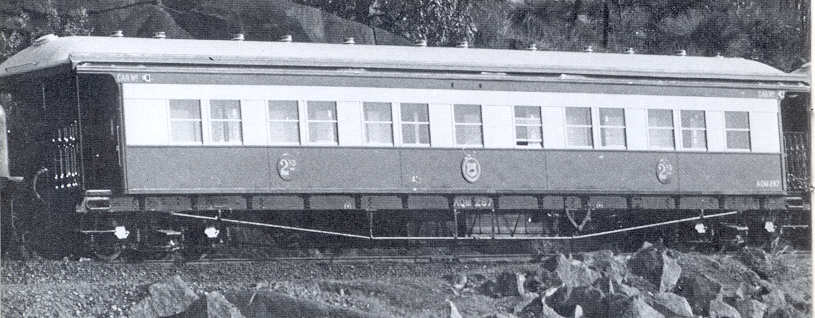 2nd class sleeping car AQM 287 at Swan View - Photo by Westrail