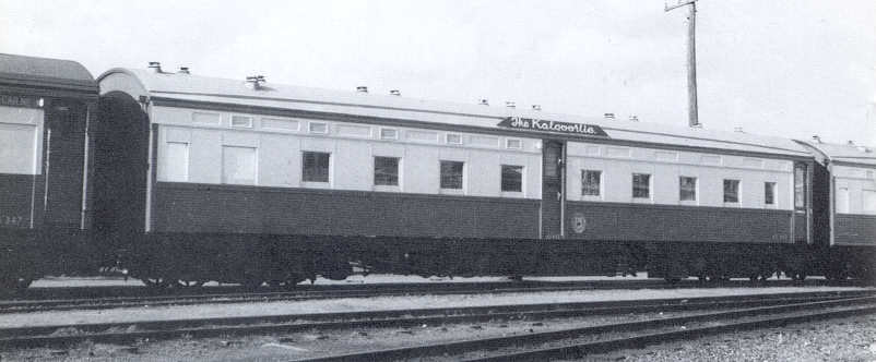AZ class sleeping car on the Kalgoorlie express Photo by Don Finlayson