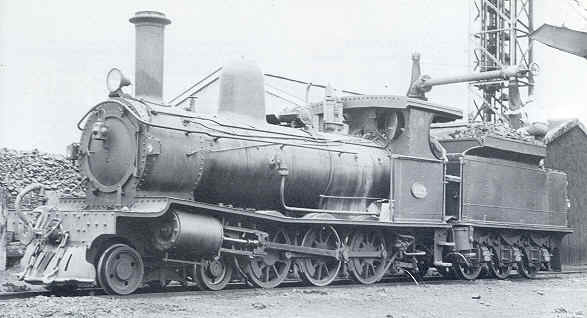 This Picture of G123 at Bunbury by A. Gunzburg from Locomotives of the WAGR