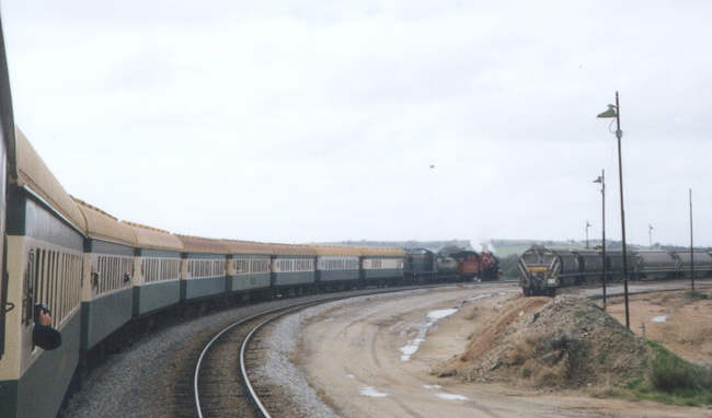 The Goomalling 100 years Centenary train enters into Avon Yard . ©Photo by N Blinco