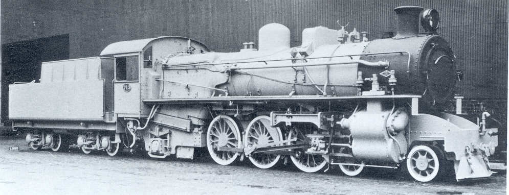 Pm Class locomotive in Works Grey