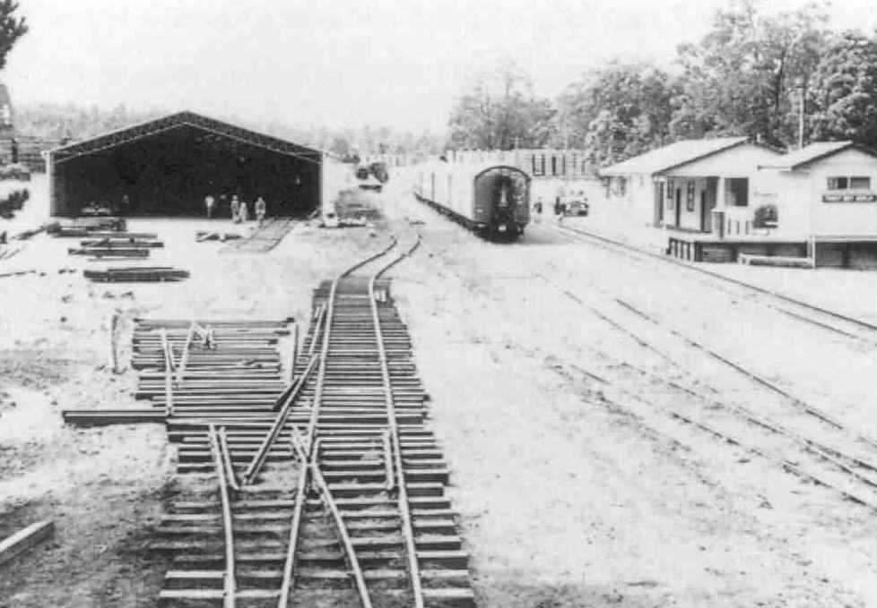 Construction of the new carriage shed at Dwellingup