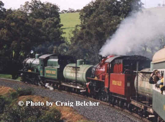 Two of HVTR's Tankers can be seen here behind W945 and Pm 706 on the popular Collie Black Diamond Explorer tour