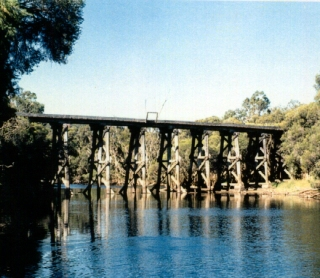Tullis Bridge - the most significant structure on the Hotham Branch